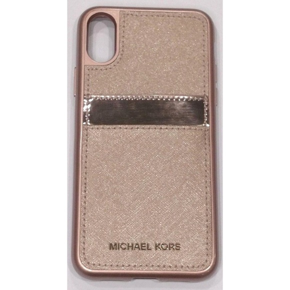 178aa549a2c70 iPhone X Michael Kors Saffiano Leather Pocket Case